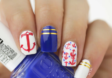 Nautical Nails: 16 Cute Nail Art Ideas - summer nail art, nautical nail art, nautical, Nail Art