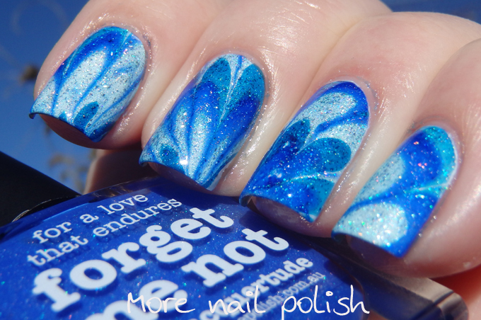 Water Marble: 20 Adorable Nail Designs to Try - Water Marble nail design, Water Marble nail art, Water Marble, nail designs, nail art ideas