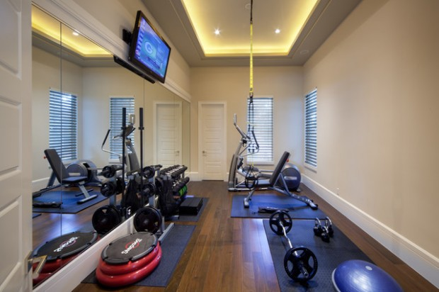 20 cool home gym design ideas for healthier family style for Best home gym design ideas