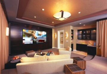 23 Ultra- Modern and Unique Home Theater Design Ideas - modern, Living room, interior design, home theater, family room