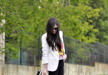 How to Style and Wear White Blazer this Fall: 16 Outfits Ideas - white blazers, white blazer outfit ideas, how to wear, fall trend, fall outfit ideas, fall fashion