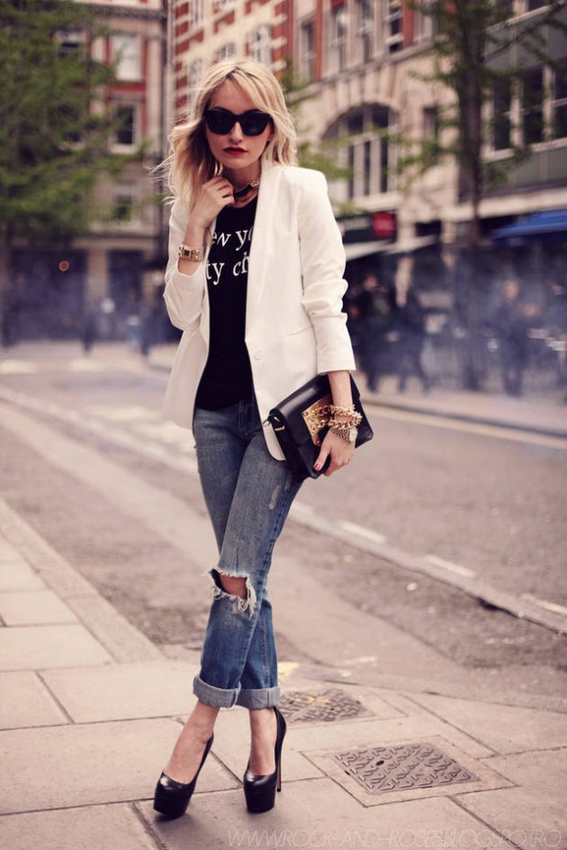 How to Style and Wear White Blazer this Fall 16 Outfits Ideas - Style Motivation