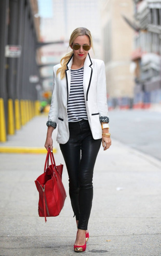 How to Style and Wear White Blazer this Fall: 16 Outfits Ideas ...