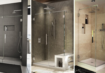 10 Beautiful Shower Designs For a Modern Bathroom - shower, residence, modern, luxury, interior, house, home, glass, furniture, decoration, contemporary, bathroom, bath