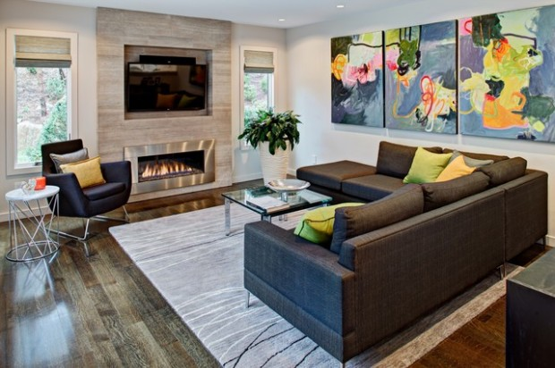 22 Modern Fireplace Design Ideas For Cozy Living Room Look - Style