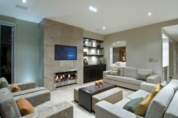 22 modern fireplace design ideas for cozy living room look - Modern Fireplace Design Ideas