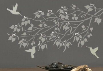 Home Craft Projects to Personalise Your Space - wall stencils, wall art, diy, canvas