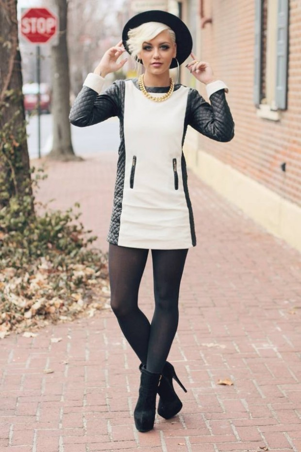 20 Stylish Outfit Ideas with Dresses for Perfect Fall Look