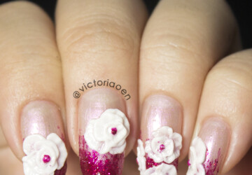 20 Pretty Floral Nail Art Ideas  - nail design, nail art ideas, floral nail art, cute nail art