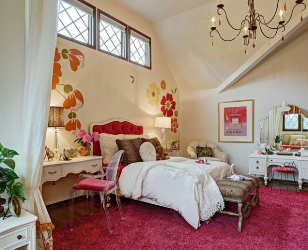 20 girly bedroom design ideas for teenage girls style for Bedroom designs girly