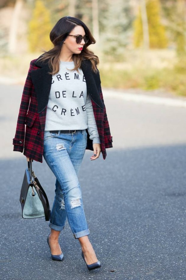 Hot Denim Trends for Fall/Winter 2014: 20 Jeans Based Outfit Ideas
