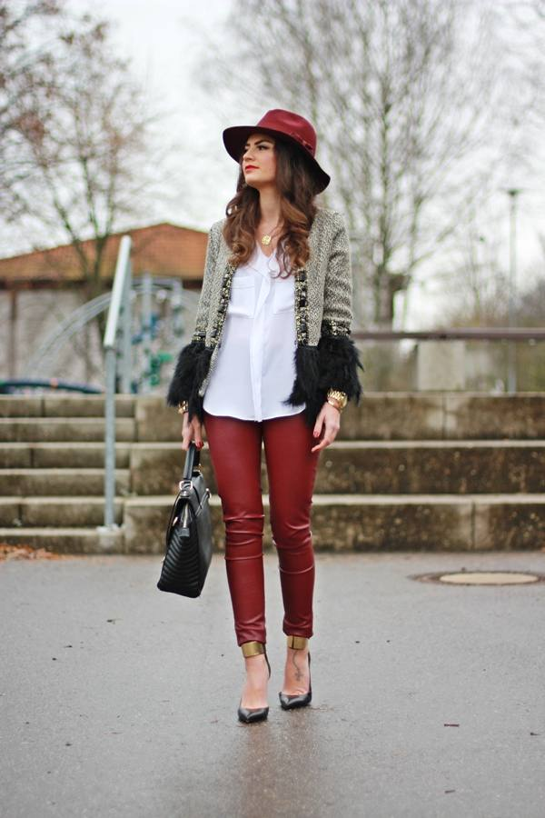 18 Stylish Ways to Wear Leather Pants this Fall