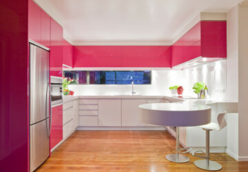 Pink Details for Fancy Kitchen: 15 Awesome Ideas - Pink kitchen, kitchen ideas, kitchen design