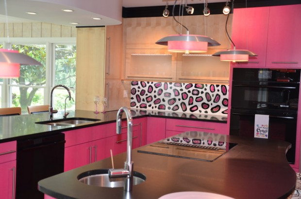 Pink Details for Fancy Kitchen: 15 Awesome Ideas