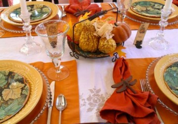 18 Amazing Thanksgiving Table Setting Ideas - Thanksgiving table settings, thanksgiving table decoration, thanksgiving decorations, Thanksgiving, table settings, table decoration