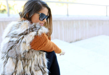 How to Wear Fur Vest: 18 Inspiring Outfit Ideas for This Season  - outfit with fur vest, fur vest, fall street style, fall outfit ideas
