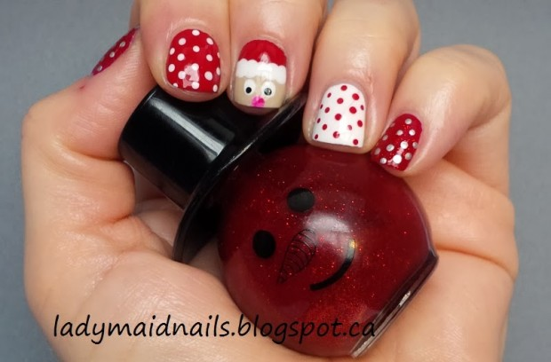 Waiting for the Most Beautiful Time of the Year   20 Christmas Inspired Nail Art Ideas