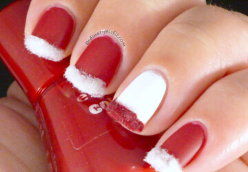 Waiting for the Most Beautiful Time of the Year - 20 Christmas Inspired Nail Art Ideas - nails, Nail Art, Christmas nails, Christmas