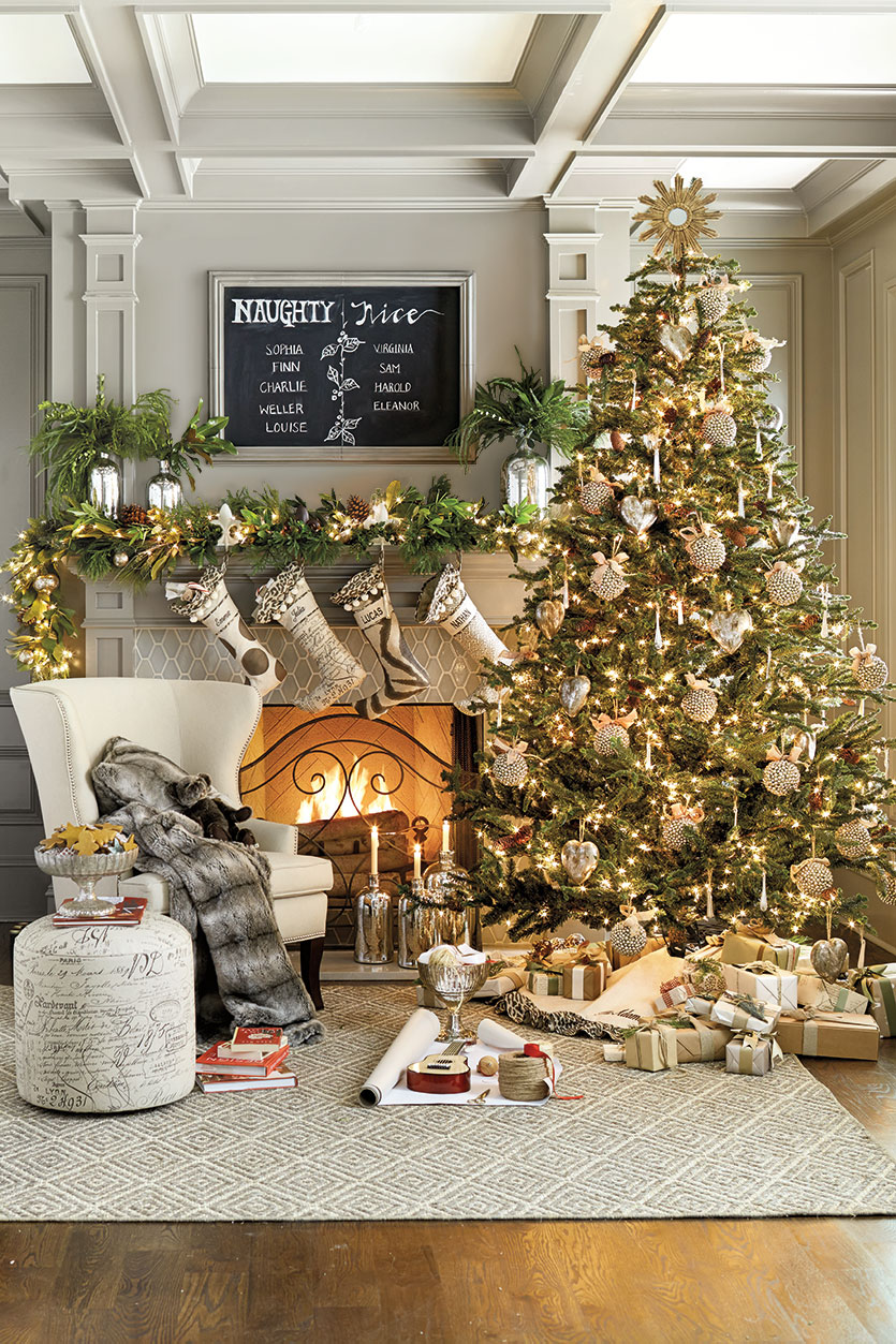 17 festive christmas tree decorating ideas to inspire you style motivation - Silver And Gold Christmas Tree Decorations