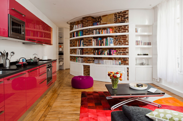18 Smart Solutions for Small Apartments - storage solutions, solutions, smart ideas, Small Studio Apartment, small apartmant