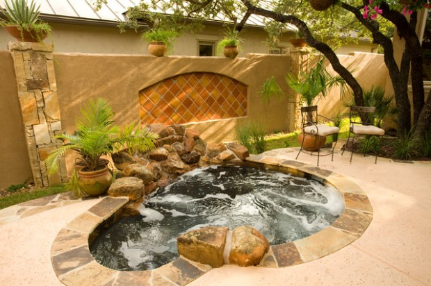 21 Landscaping Outdoor Living Spaces With Hot Tubs Style