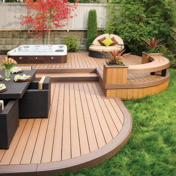 21 Landscaping Outdoor Living Spaces with Hot Tubs