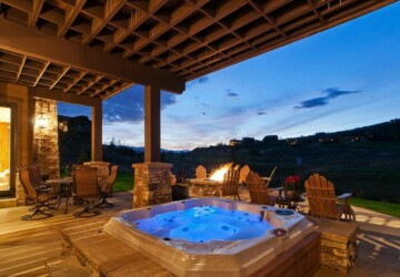 21 Landscaping Outdoor Living Spaces with Hot Tubs - outdoor living room, Most Unique Hot Tubs, Landscaping hot tub, landscape outdoors, landscape backyard, Hot Tubs, hot tub ideas
