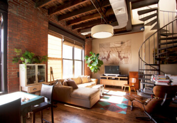 18 Fantastic Apartment Design Ideas in Industrial Style     - small apartmant, industrial style interior, industrial style apartmants, industrial living room, industrial home office, industrial dining room, Apartment Interior Design