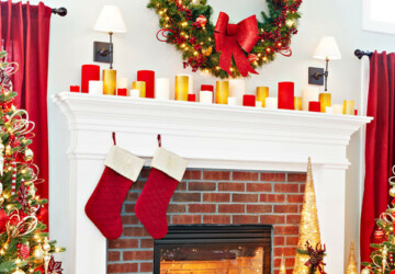 26 Gorgeous Fireplace Mantel Decoration Ideas for Christmas - mantel, fireplace mantel, fireplace, christmas decoration ideas, christmas decorating, Christmas