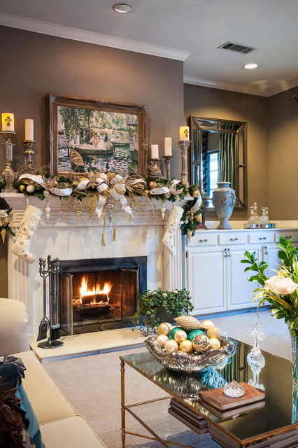 26 gorgeous fireplace mantel decoration ideas for for Xmas living room ideas
