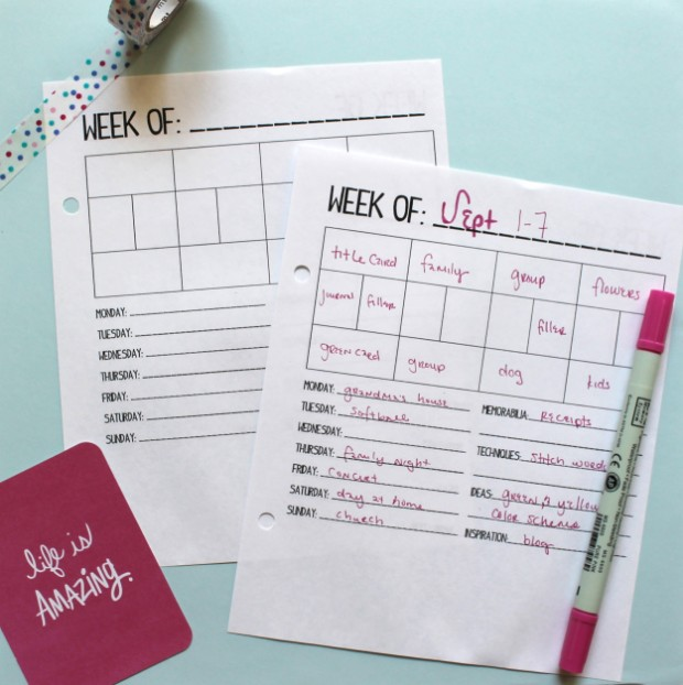 Diy Weekly Calendar : Time to get organized diy planner ideas and