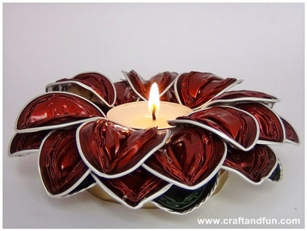 22 Creative DIY Candle & Votive Candle Holder Ideas