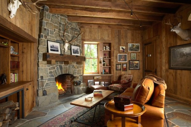 20 Amazing Fireplace Design Ideas for Cozy Rustic Interiors