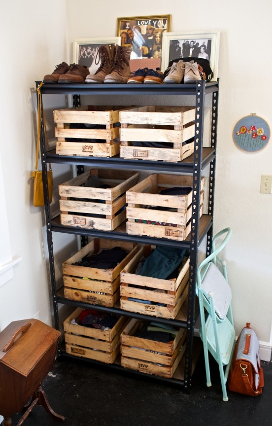 Pallet Wood Storage Ideas Garage