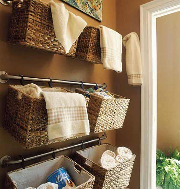16 clever diy storage hacks for small bathrooms - Diy Small Bathroom Storage