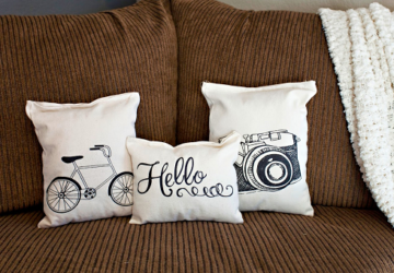16 Fancy DIY Pillow Ideas – Creative and Easy - pillows, Pillow, diy pillows, diy pillow, diy, crafts