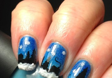 16 Beautiful Winter Inspired Nail Art Ideas to Try this Season - winter nail design, winter nail art, snowman, snowflake, nail art ideas