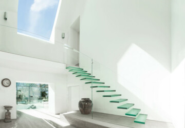20 Floating Staircase Design Ideas for Modern Interiors - Stairs, staircase design ideas, staircase, modern, floating stairs, floating staircase, floating