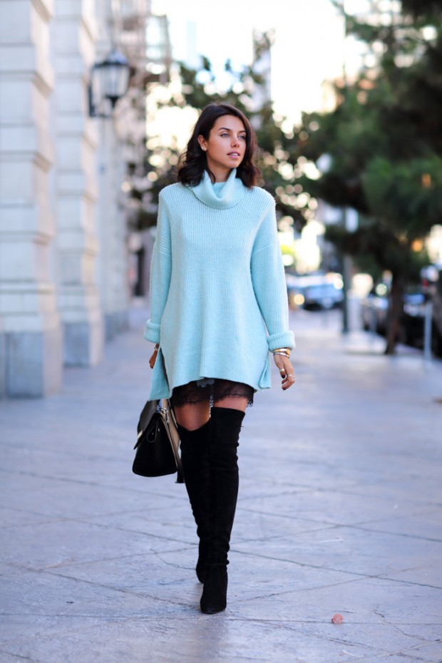 79476a943c How to Wear Oversized Sweater - 22 Outfit Ideas - Style Motivation