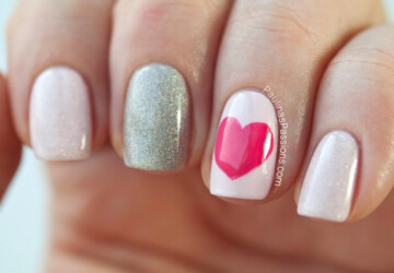24 Cute Nail Art Ideas for Valentine's Day - Valentine's day nail art, Valentine's day, nails, Nail polish, Nail Art, cute nail art