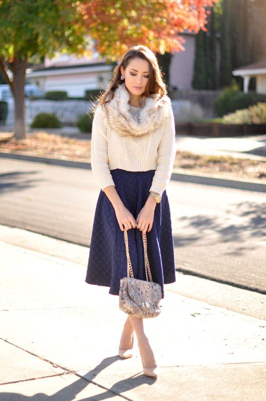 Chic Ways to Wear Your Midi Skirt During Winter - 23 Outfit Ideas ...