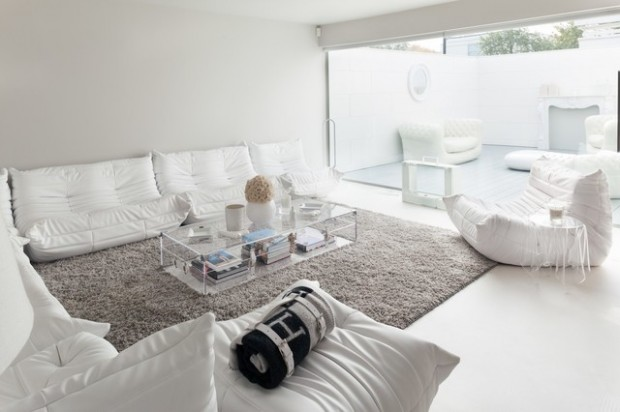 27 Minimalist White Living Room Designs