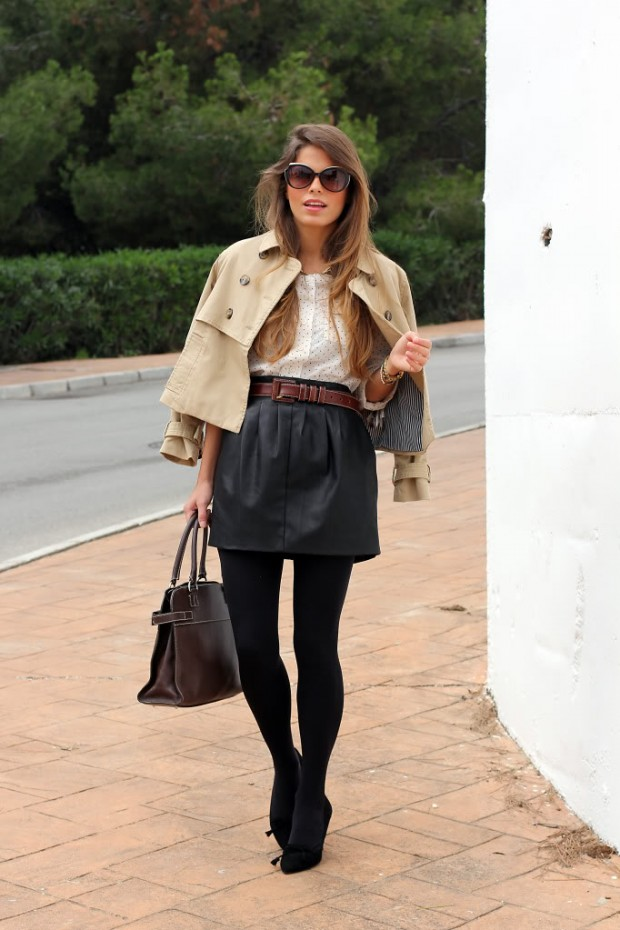Style Tips How To Wear Leather Skirt and 18 Urban Outfit Ideas
