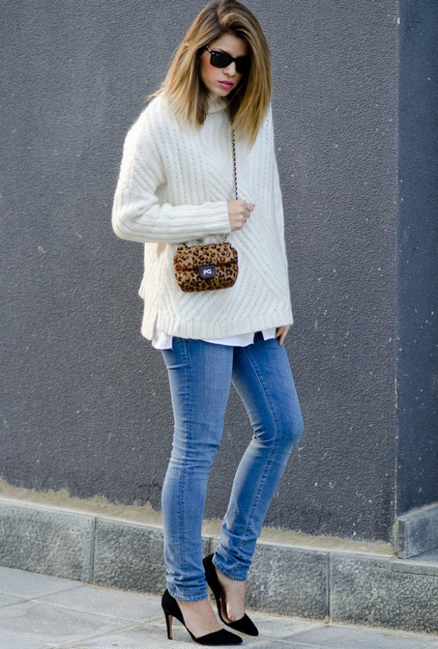 How to Wear Oversized Sweater   22 Outfit Ideas
