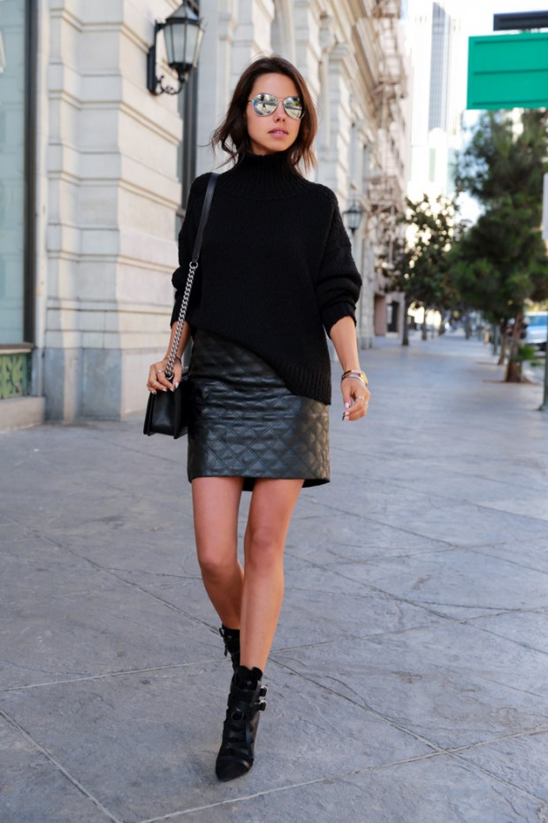 Style Tips How To Wear Leather Skirt and 18 Urban Outfit Ideas ...