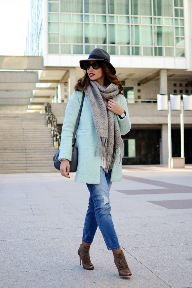 20 Excellent Jeans Outfits Combined With High Heels / Ankle Boots