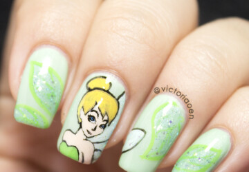 20 Beautiful Nail Art Ideas Inspired by Fairy Tales - romantic nails, romantic nail art, nail design, nail art ideas, fairy tale nail art, fairy tale