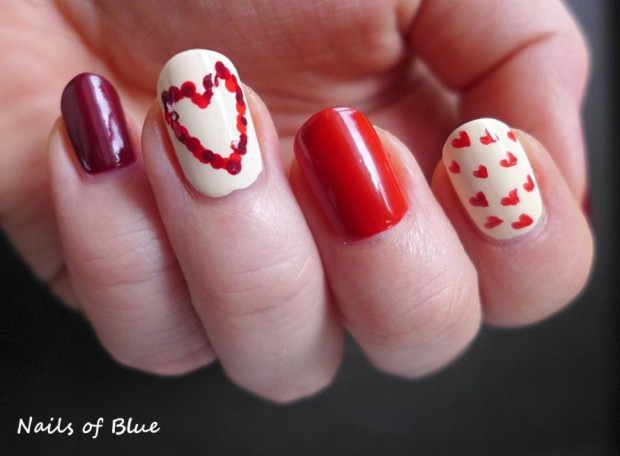 Hearts on Your Nails for Romantic Look – 18 Date Night Nail Art Ideas