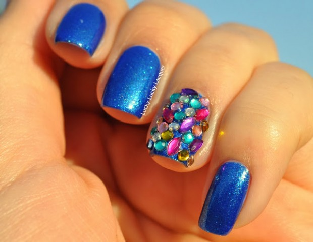 16 Spectacular 3D Nail Designs  Rhinestones, Gems and Pearls on Your Nails