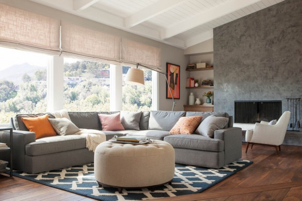 Great Living Room Ideas With Sectional Design